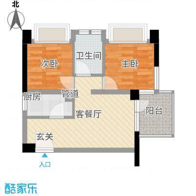 尹江岸二村55.00㎡户型2室