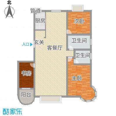 碧海绿洲16.00㎡C户型3室2厅2卫1厨