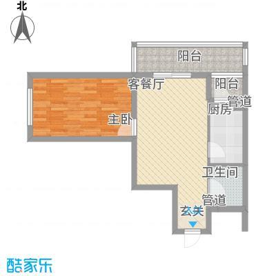 红旗街万达广场77.65㎡3#5户型1室1厅1卫1厨