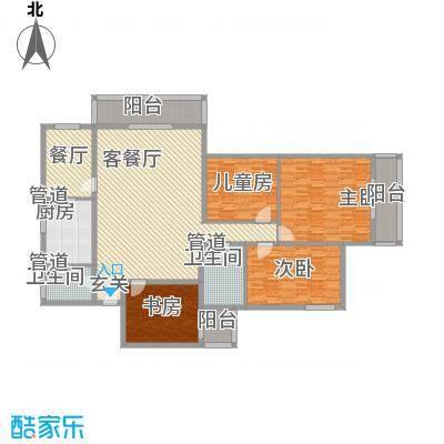 金地苑214.00㎡户型5室