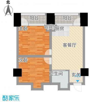中金名筑77.54㎡高层4户型2室1厅1卫