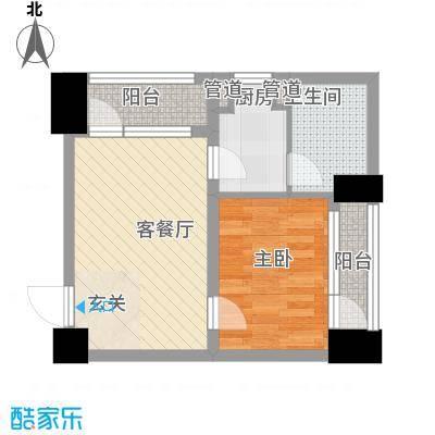 中金名筑61.00㎡高层5户型1室1厅1卫