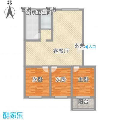 苏杭花园122.10㎡多层户型3室2厅1卫1厨