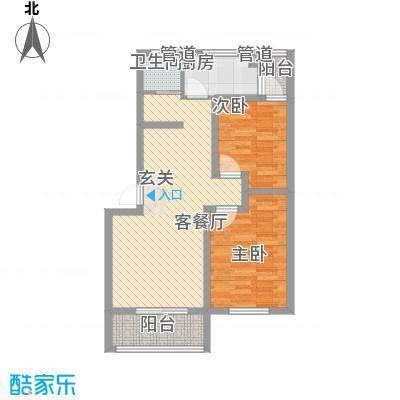 苏杭花园88.73㎡多层户型2室2厅1卫1厨
