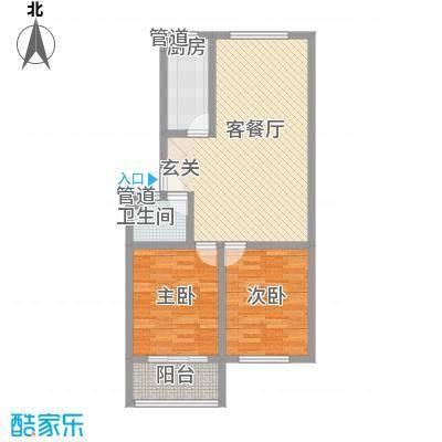 苏杭花园多层户型2室2厅1卫1厨