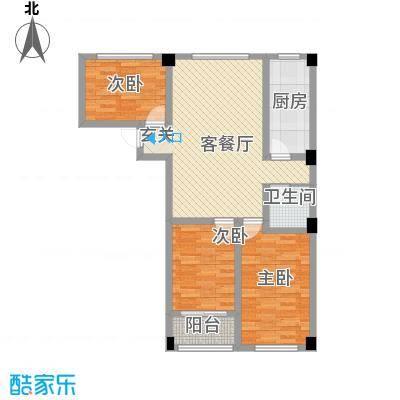 苏杭花园16.70㎡2#-D户型3室2厅1卫1厨