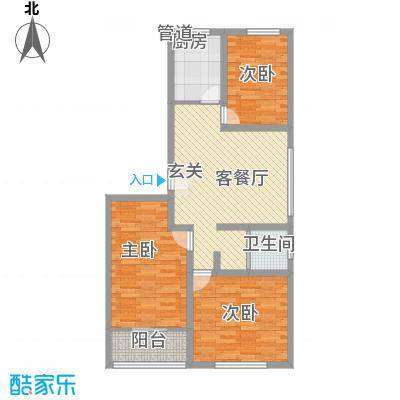 苏杭花园8.18㎡多层户型3室1厅1卫1厨