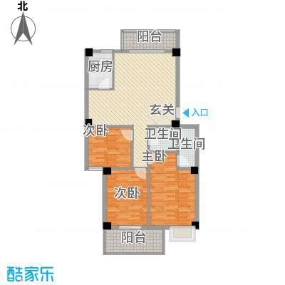 惠华花园135.00㎡户型3室