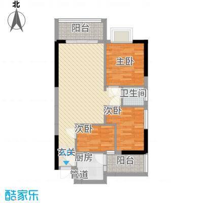达成新居户型3室