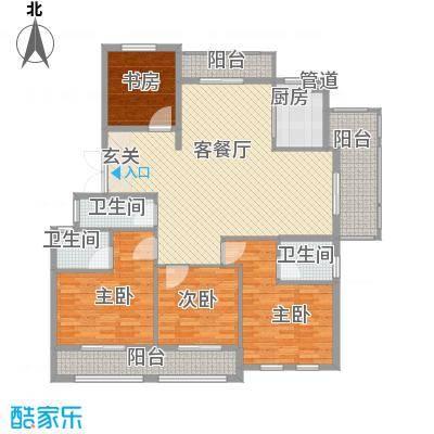 春晓源燕园136.70㎡高层24#-2户型2室2厅2卫1厨