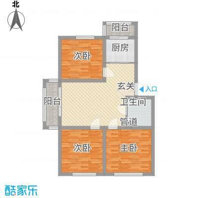 车城名仕家园A区1户型3室1厅1卫1厨