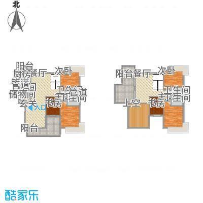 东方华府22.00㎡11栋复式单位户型6室2厅5卫1厨