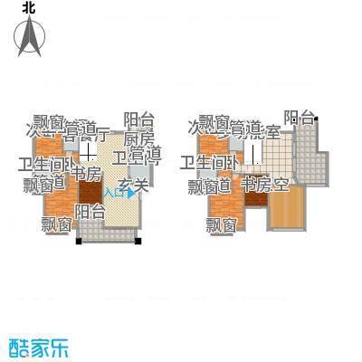 东方华府312.00㎡11栋龙玺2单元标准层01复式户型6室3厅5卫1厨