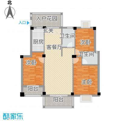 江都金域・地中海13.00㎡C6-1户型3室2厅2卫1厨