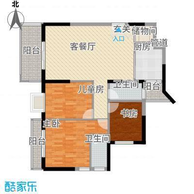 红花湖丽苑125.00㎡户型3室