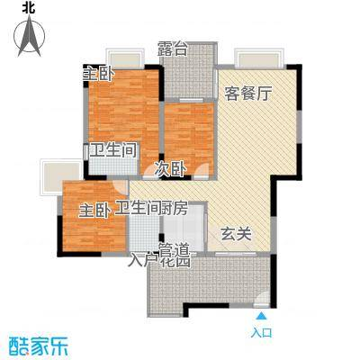 红花湖丽苑115.00㎡户型3室
