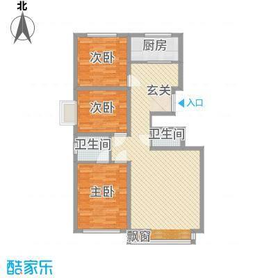 华侨新村1户型3室2厅1卫1厨