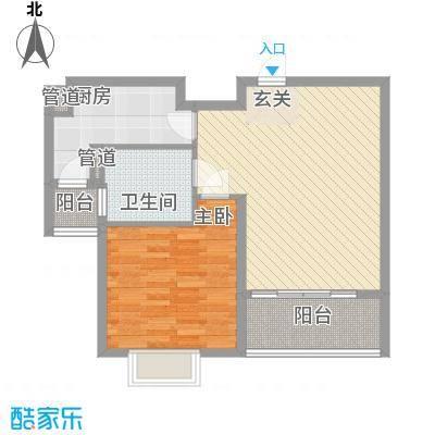 黄河丽景花园63.00㎡户型1室