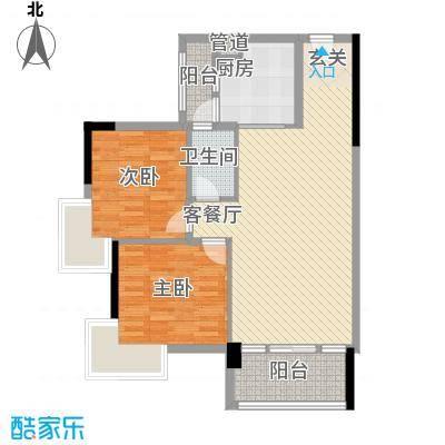 华轩居76.00㎡户型3室