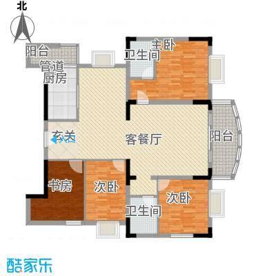 名苑山庄名苑4户型4室2厅2卫1厨