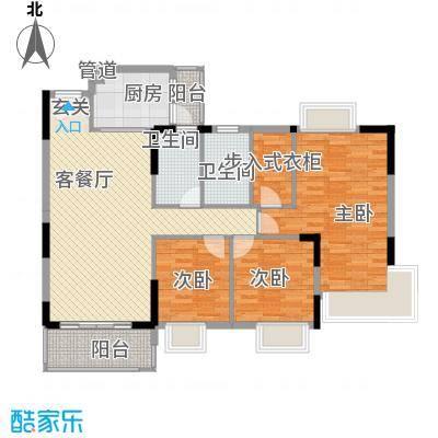 东城畔山121.10㎡3栋03-04户型3室2厅2卫1厨