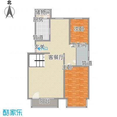 东方文苑272.87㎡C复式一层户型5室2厅3卫1厨