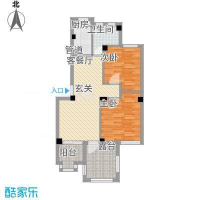 荣安花园78.55㎡6#403户型