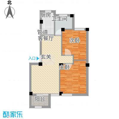 荣安花园78.55㎡6#503户型