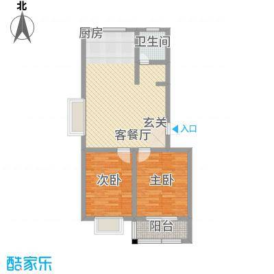 康城壹品85.00㎡3号楼、6号楼-静雅居售完户型2室2厅1卫1厨