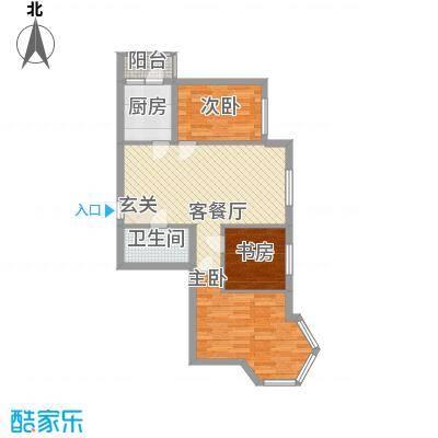 学院新城83.00㎡二期高层G户型3室2厅1卫1厨