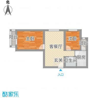 史家新村51.00㎡户型2室