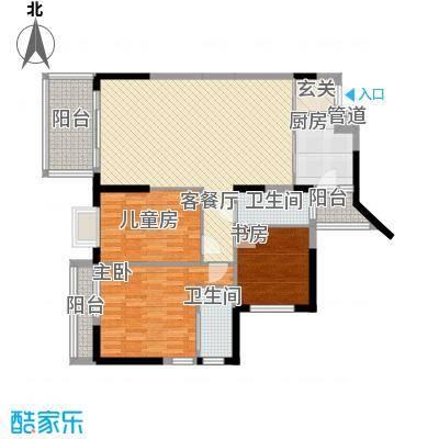 广厦新苑11.00㎡户型3室