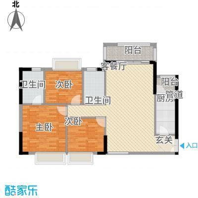 群芳苑85.00㎡户型3室
