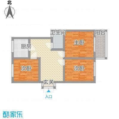 七中宿舍85.00㎡户型3室