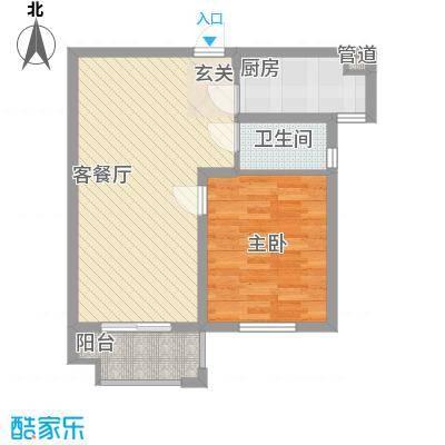 东裕新村四期户型1室2厅1卫1厨