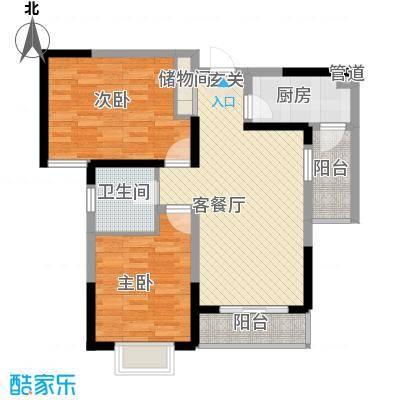金水湾花园户型2室