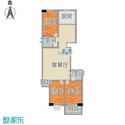 天和学府苑157.34㎡B'户型3室2厅2卫