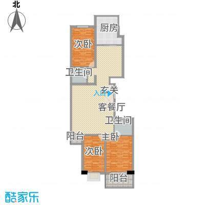天和学府苑16.21㎡B户型3室2厅2卫