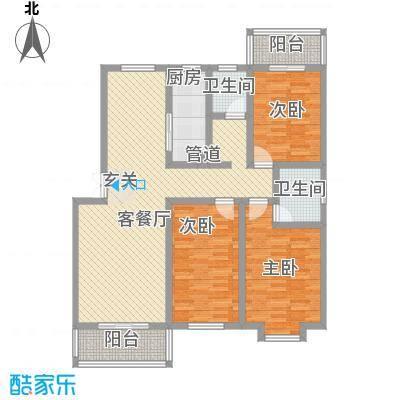 熙春花园14.00㎡户型
