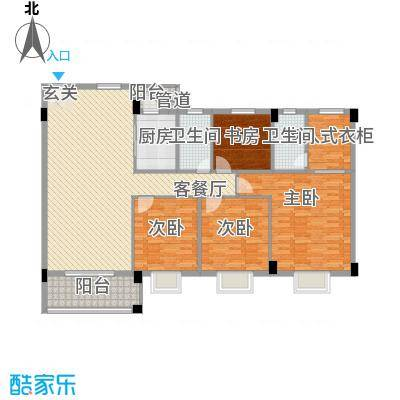 瑜进嘉园15.10㎡雍荣户型4室2厅2卫1厨