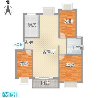 金鑫家园113.00㎡G平方副本户型3室2厅1卫1厨