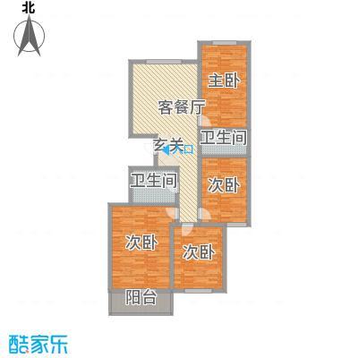 龙海方舟花园166.00㎡户型3室