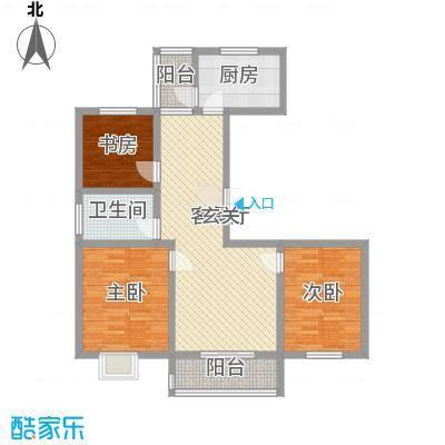 奥运城113.20㎡C5/C8号楼F/F1户型3室2厅1卫1厨