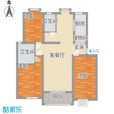 薄荷花苑二期红域明珠B户型3室1厅2卫