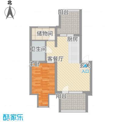 薄荷花苑二期红域明珠阁楼7户型1室1厅1卫