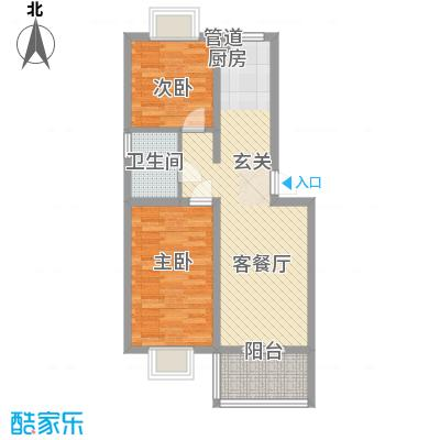 薄荷花苑二期红域明珠F户型2室1厅1卫