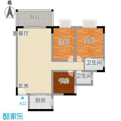 人乐居142.00㎡户型3室