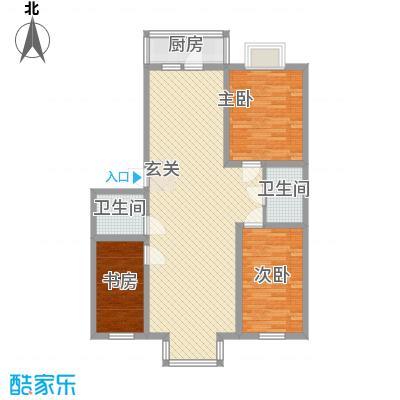 明星盛世家园115.00㎡户型3室2厅2卫1厨