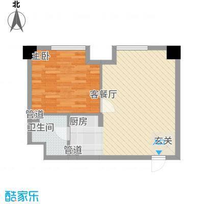 财富公寓6.00㎡户型2室