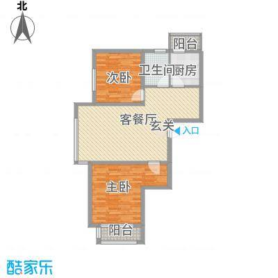 SR国际新城二期户型2室